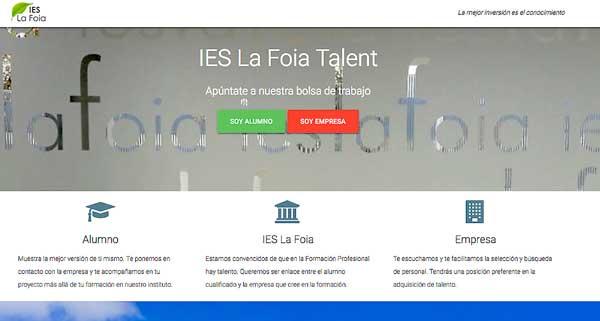 El IES La Foia moderniza su bolsa de trabajo y prácticas a través de internet