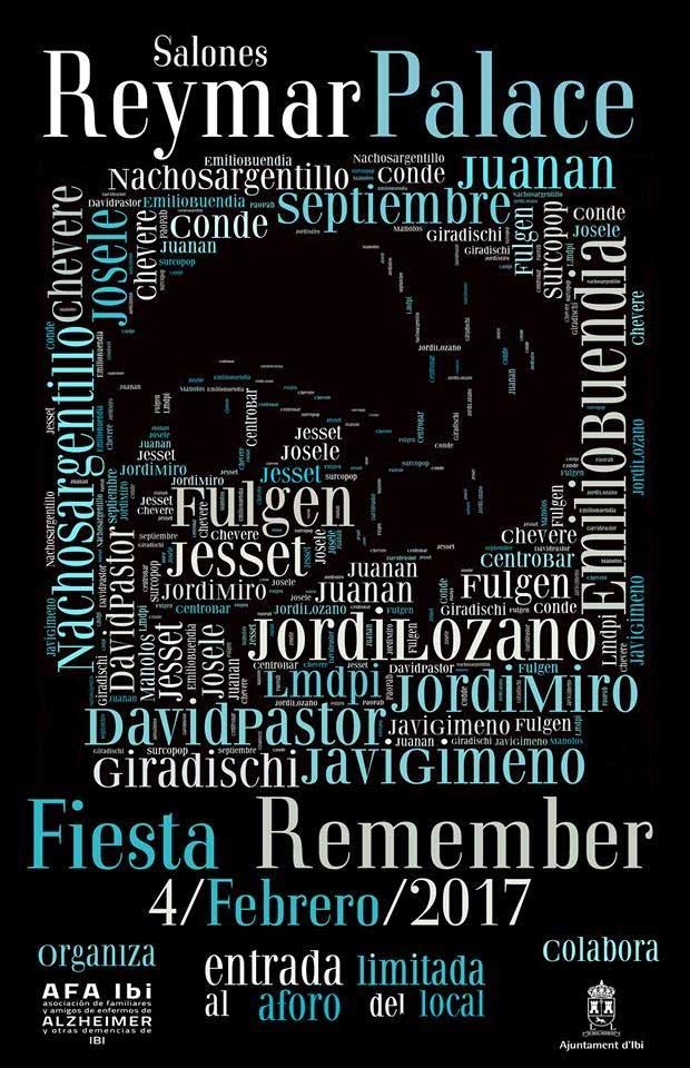 Fiesta remember en Ibi a beneficio de la asociación de Alzheimer