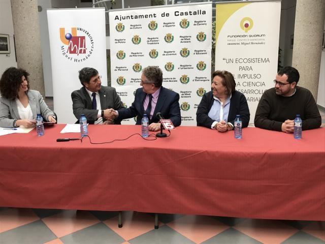 La Universidad Miguel Hernández y el Ayuntamiento ponen en marcha el programa 'Castalla Emprende'