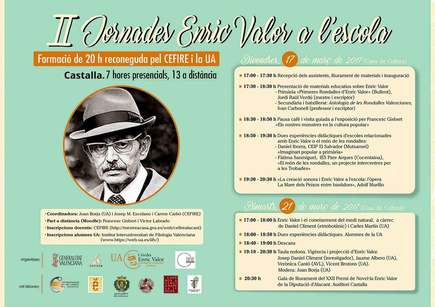 El Premi Enric Valor de Novel.la se entregará por primera vez en Castalla el martes 21 de marzo