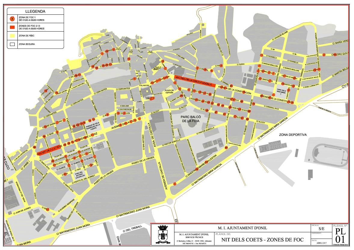 El Ayuntamiento de Onil publica un bando con la normativa y precauciones de cara a la Nit dels Coets