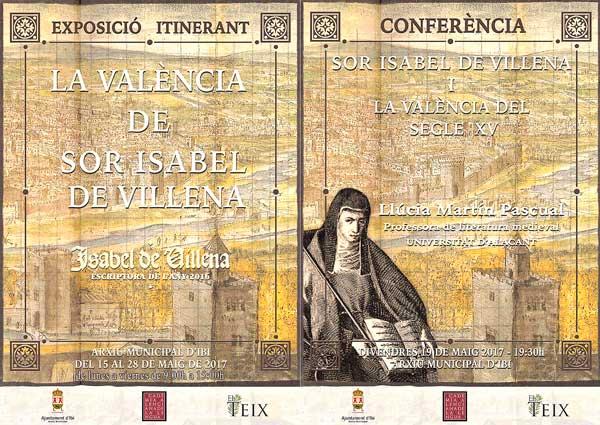 Exposició itinerant  'La València de sor Isabel de Villena' arriba a l'Arxiu Municipal d'Ibi