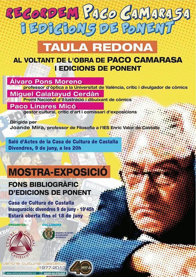 Taula redona i exposició en Castalla en record de Paco Camarasa i Edicions de Ponent