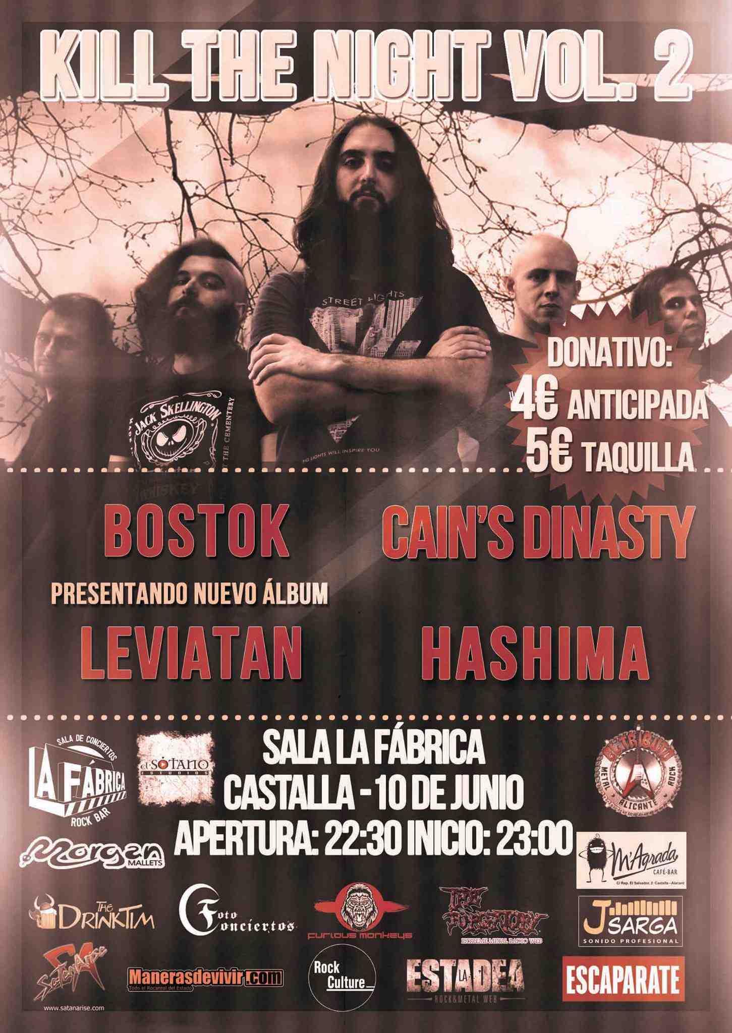 La Fábrica de Castalla acull esta nit la segona edició del festival de heavy metal 'Kill The Night'