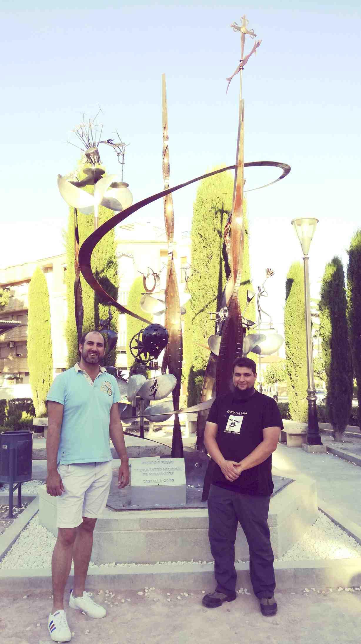 Instalada en el Parque Municipal de Castalla la escultura del I Encuentro Nacional de Forjadores