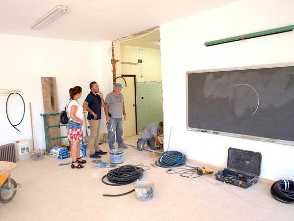 El Ayuntamiento de Ibi construye un aula para alumnos de 2 años en el Pla y Beltrán
