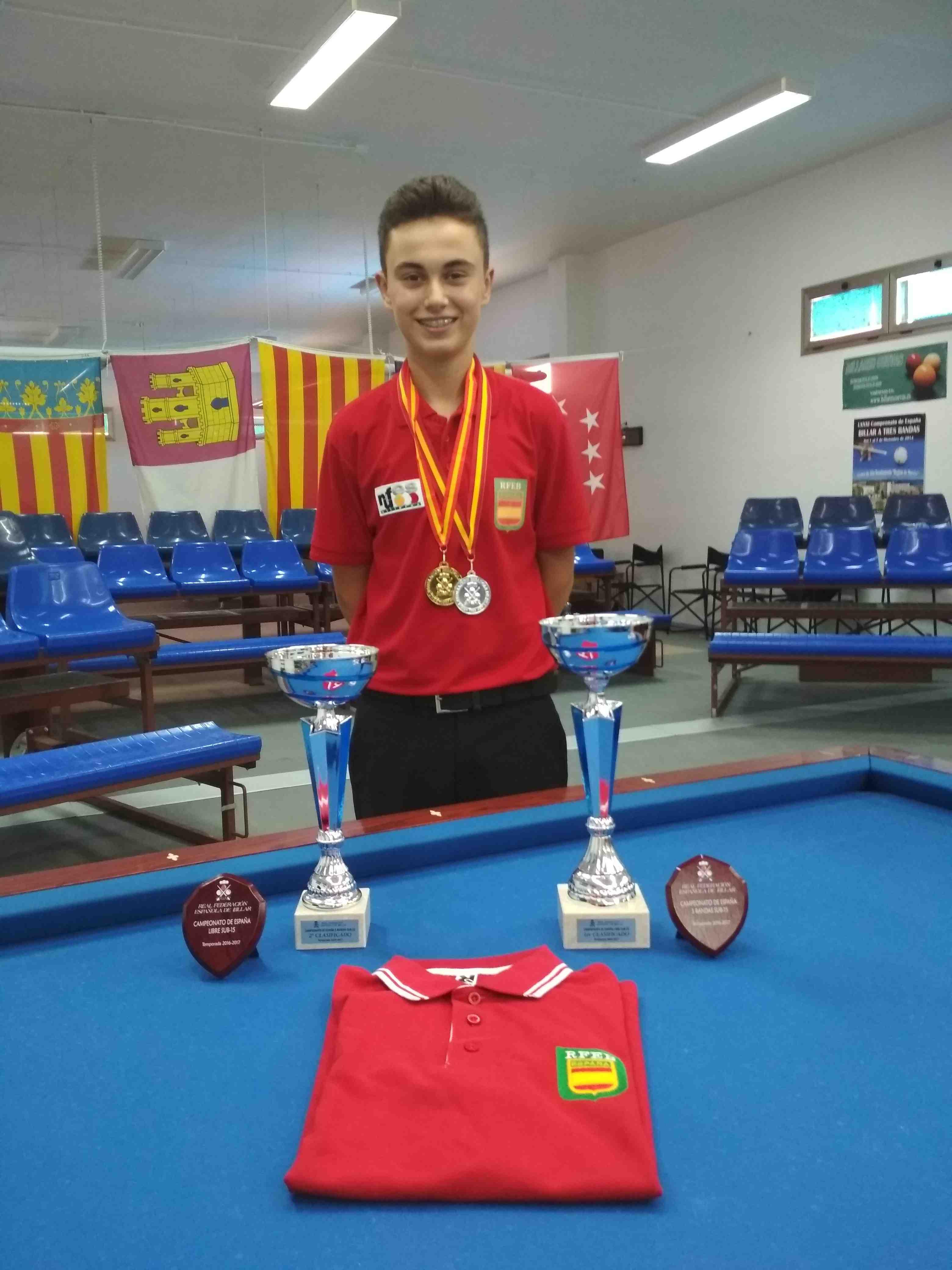 El colivenc Luis Mira, campeón de España de billar en categoría Sub15