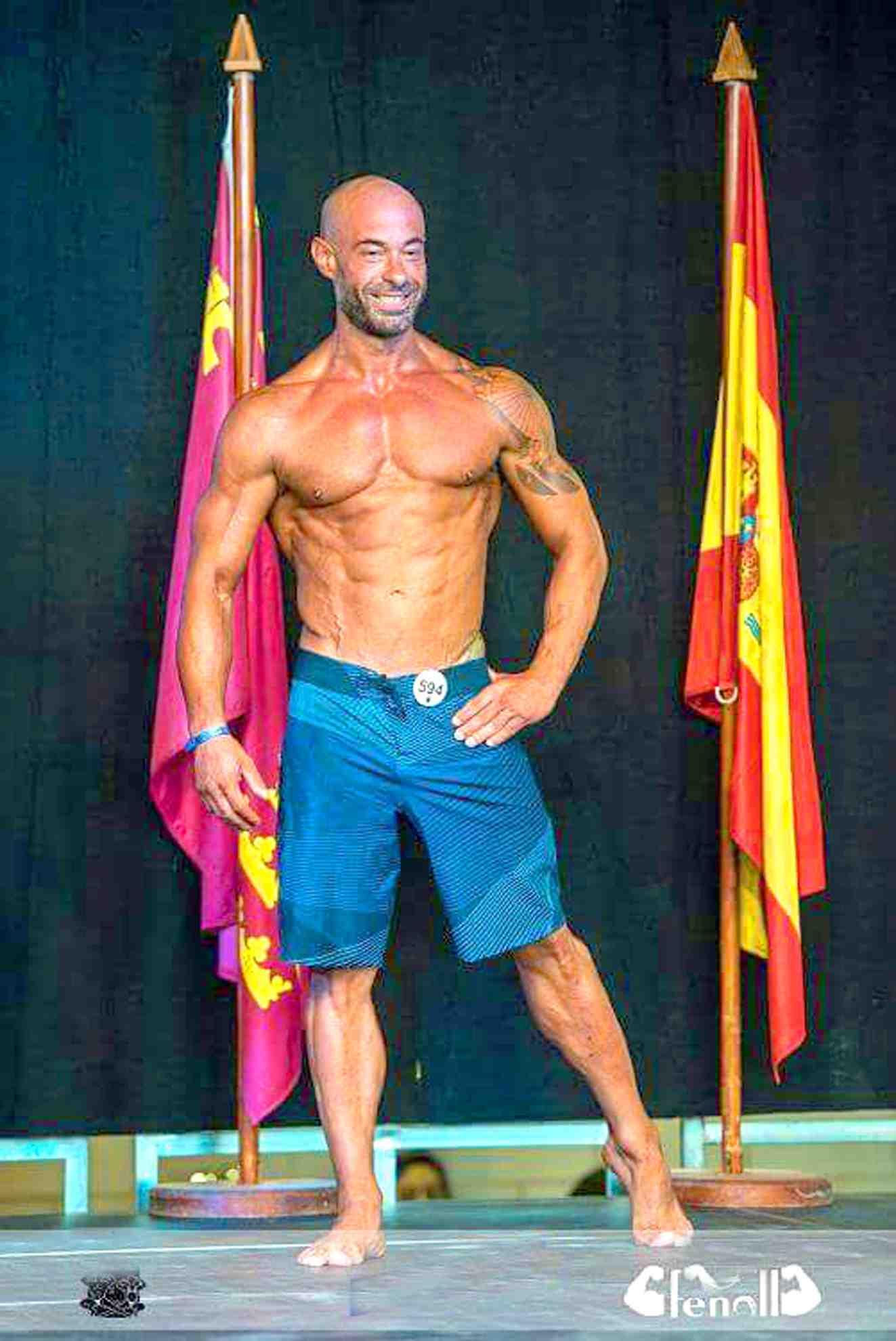 El culturista ibense Juanjo Mira gana el Campeonato IronBaby en Los Alcázares (Murcia)