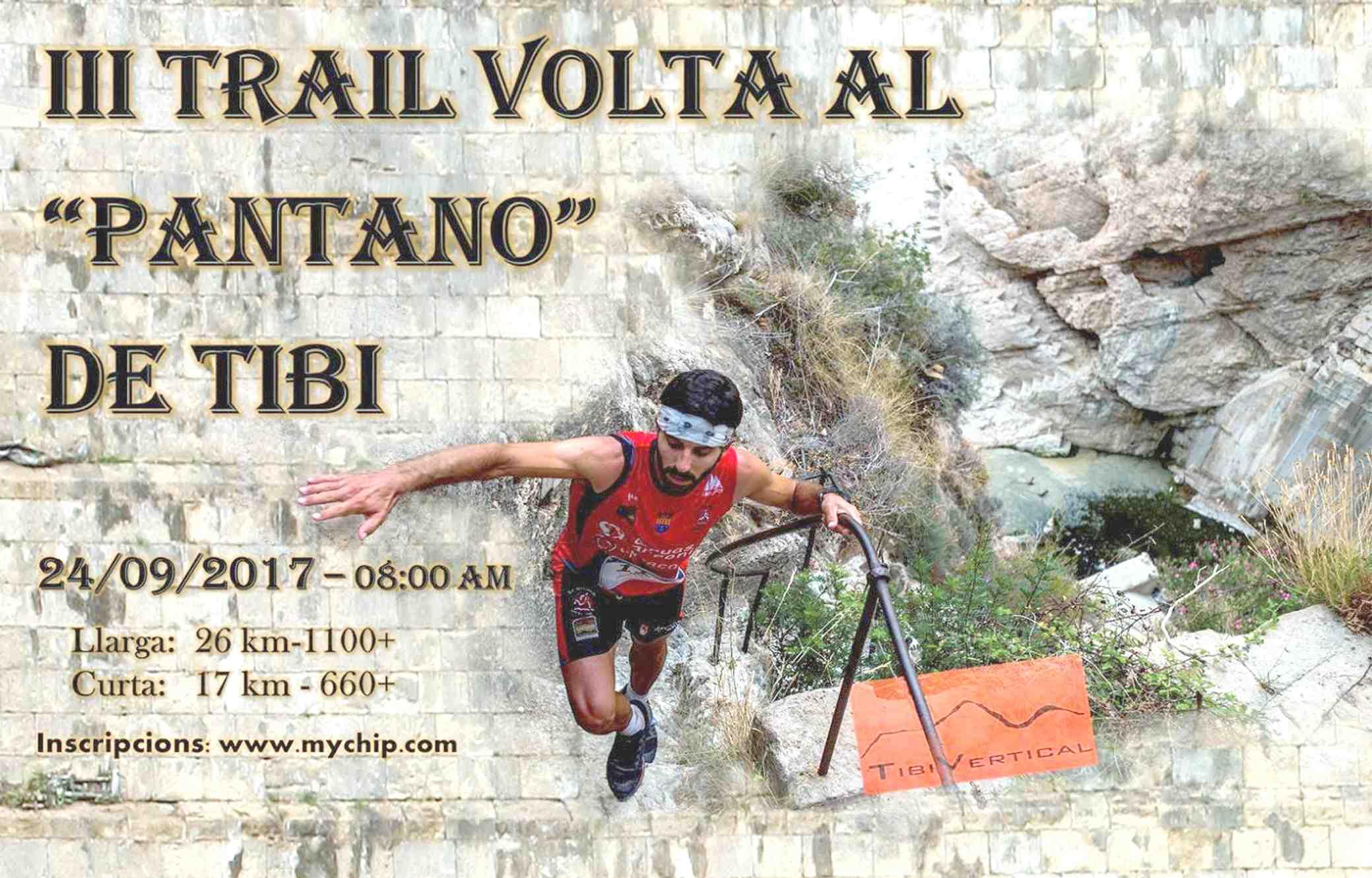 El diumenge 24 de setembre, tercera edició del Trail Volta al Pantano de Tibi