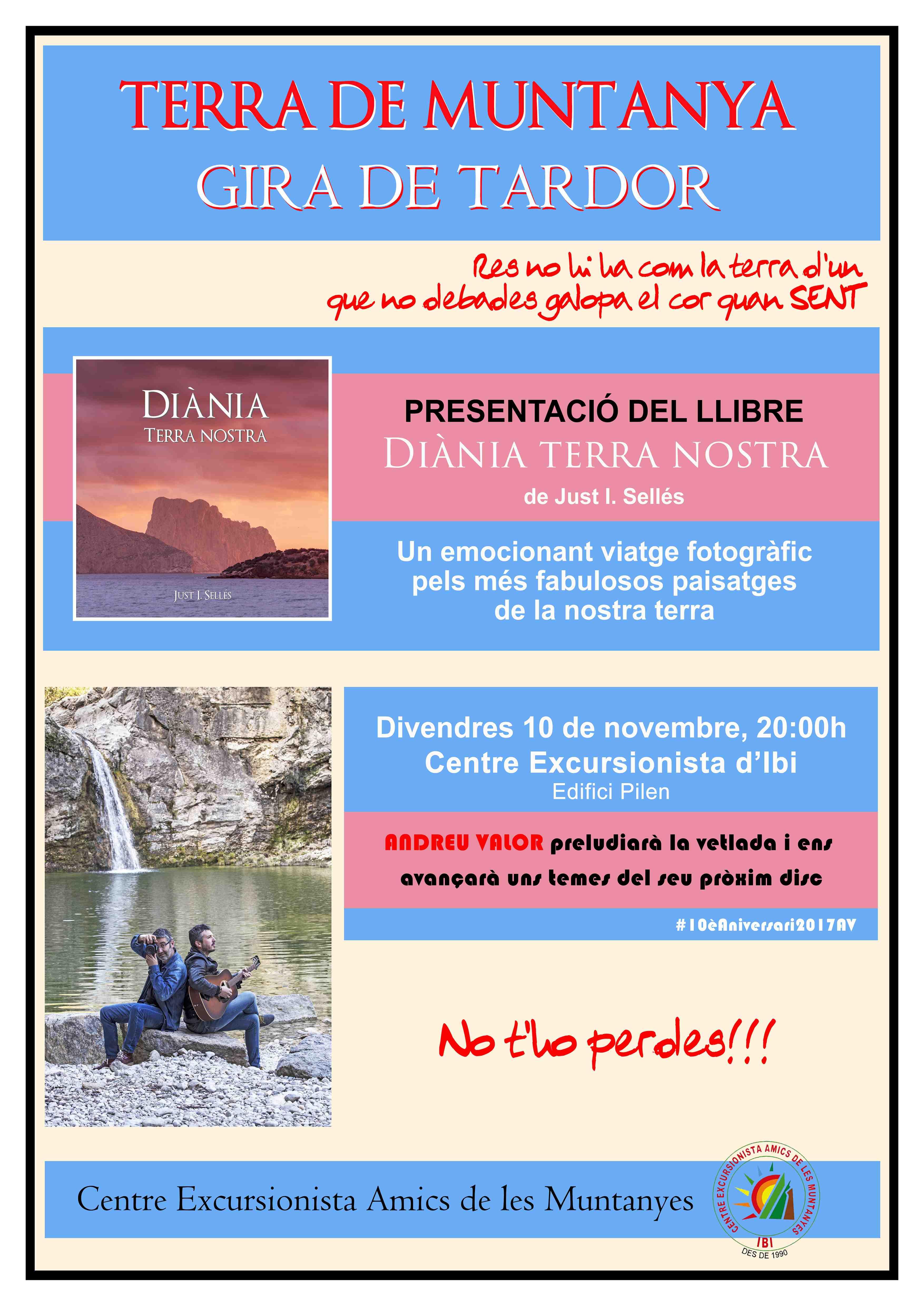 Presentació del llibre 'Diània' en la seu d'Amics de les Muntanyes