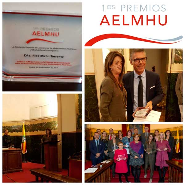 Premio a Fide Mirón su divulgación de las enfermedades raras