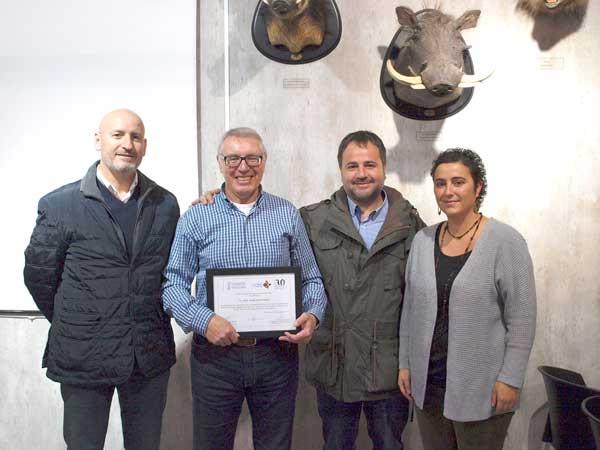 Homenaje a Joan Josep Sarrió por sus 30 años en el Consell de la Font Roja