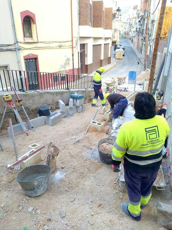 Obras de accesibilidad en las calles Conill y Santiago Rico de Ibi