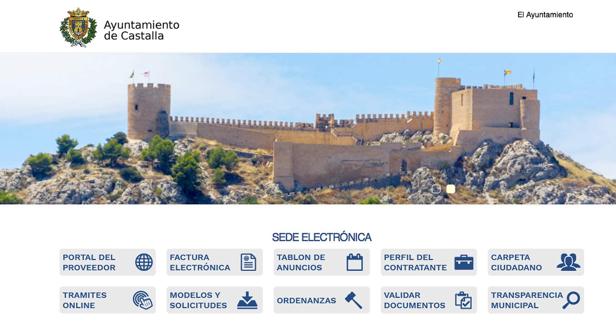 El departamento informático del Ayuntamiento de Castalla activa todos los servicios y prestaciones que permite la Sede Electrónica