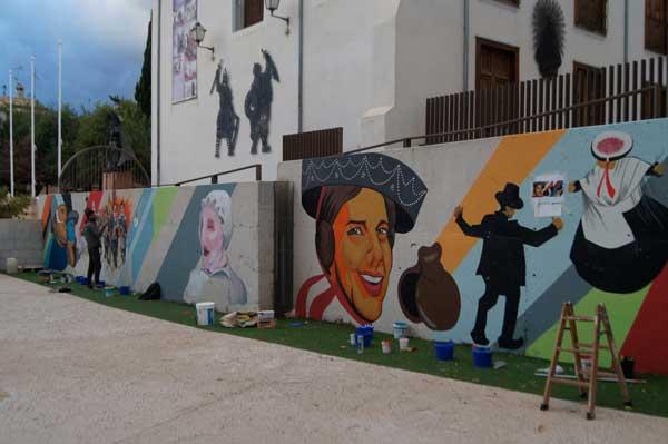 Mural conmemorativo de las Fiestas de Invierno de Ibi