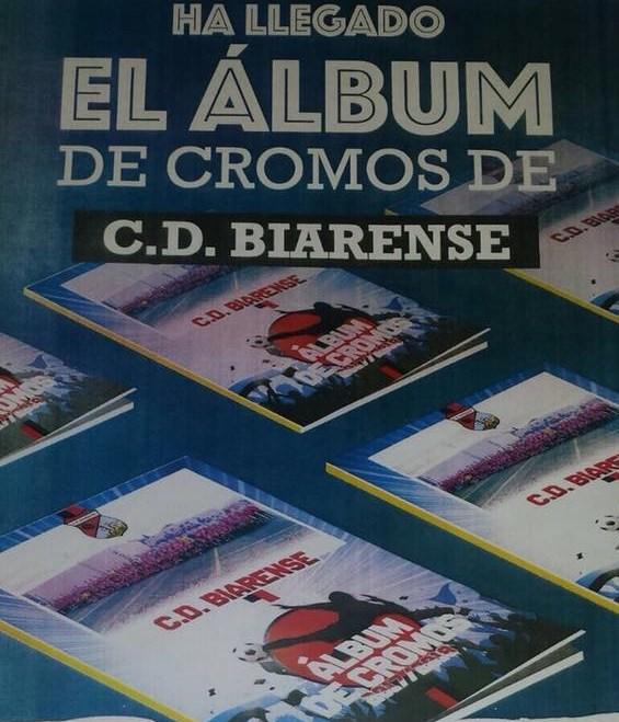 Todos los equipos y jugadores del CD Biarense, en un álbum de cromos