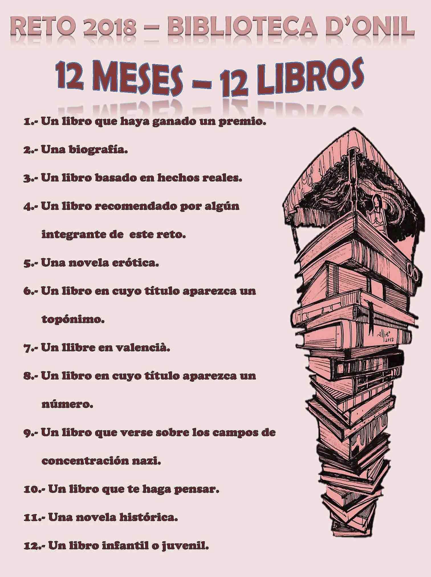 La Biblioteca Pública de Onil pone en marcha el reto para adultos '12 meses, 12 libros'