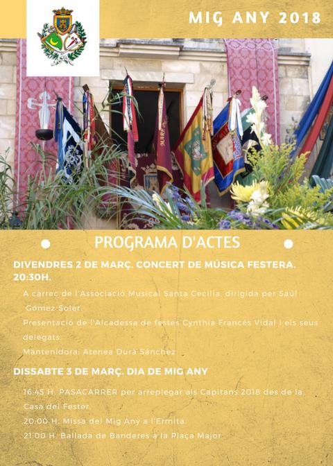 Castalla celebra el seu Mig Any Fester amb música, pasacarrer, missa i ballà de banderes