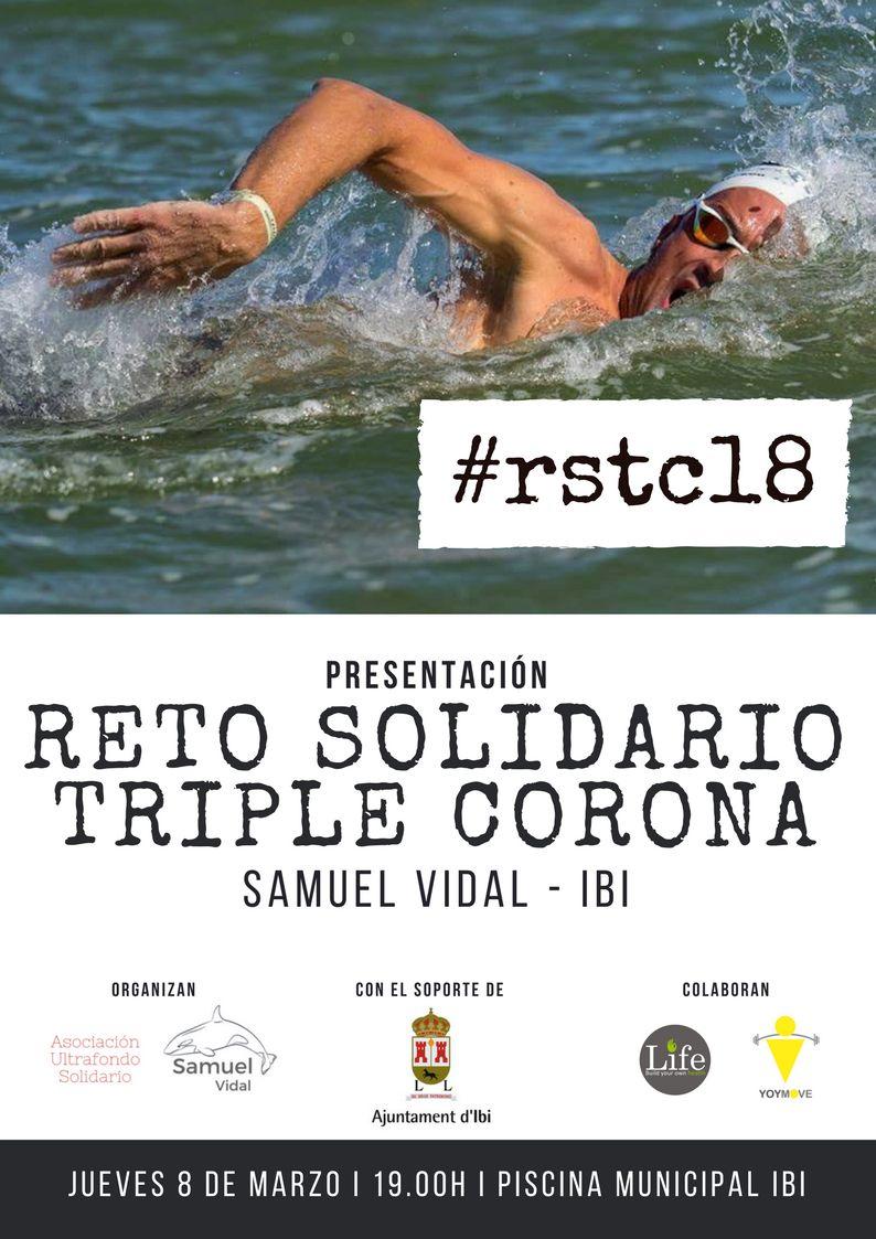 El ibense Samuel Vidal se enfrentará al reto solidario de la Triple Corona de natación en aguas abiertas