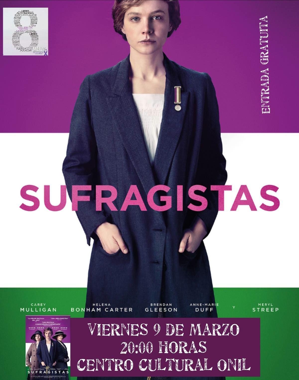 El área de Bienestar Social de Onil programa la película 'Sufragistas' con motivo del Día de la Mujer