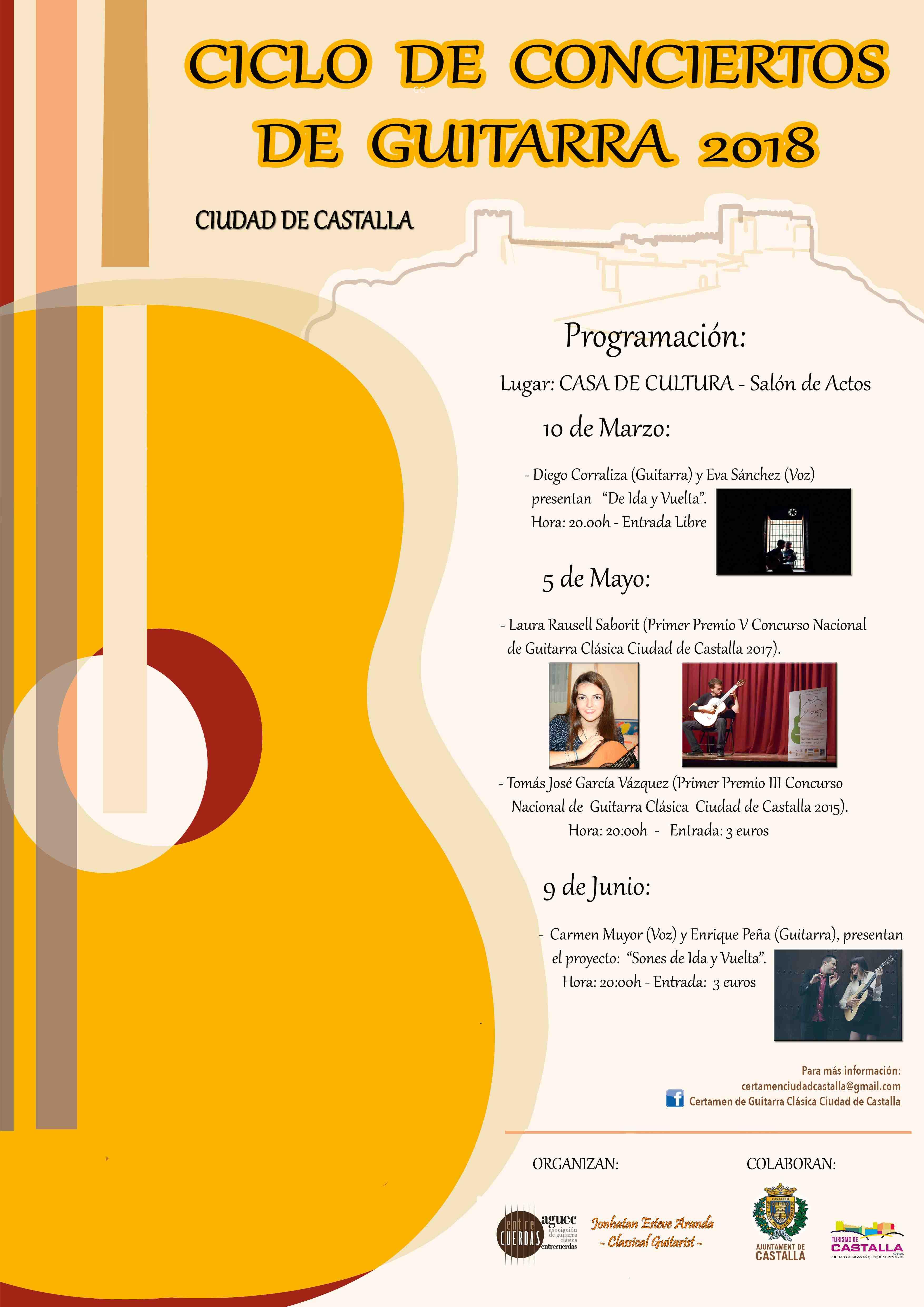 Jonathan Esteve Aranda organiza en Castalla un ciclo de conciertos de guitarra