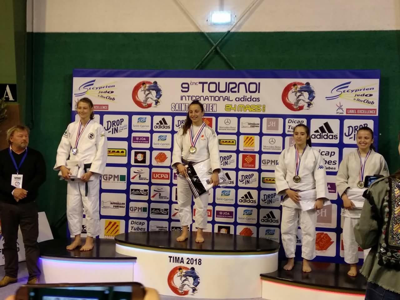 La castallense Adriana Rodríguez logra la medalla de oro en un campeonato internacional de judo disputado en Francia