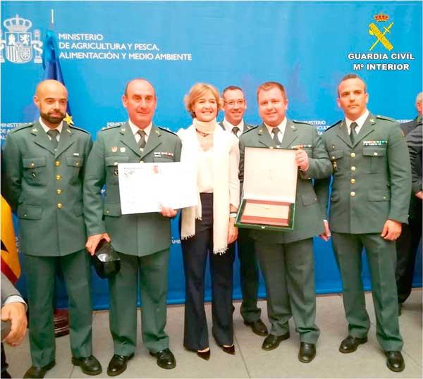 El Equipo Roca de Ibi, galardonado por su gran trabajo contra los delitos  en el ámbito rural