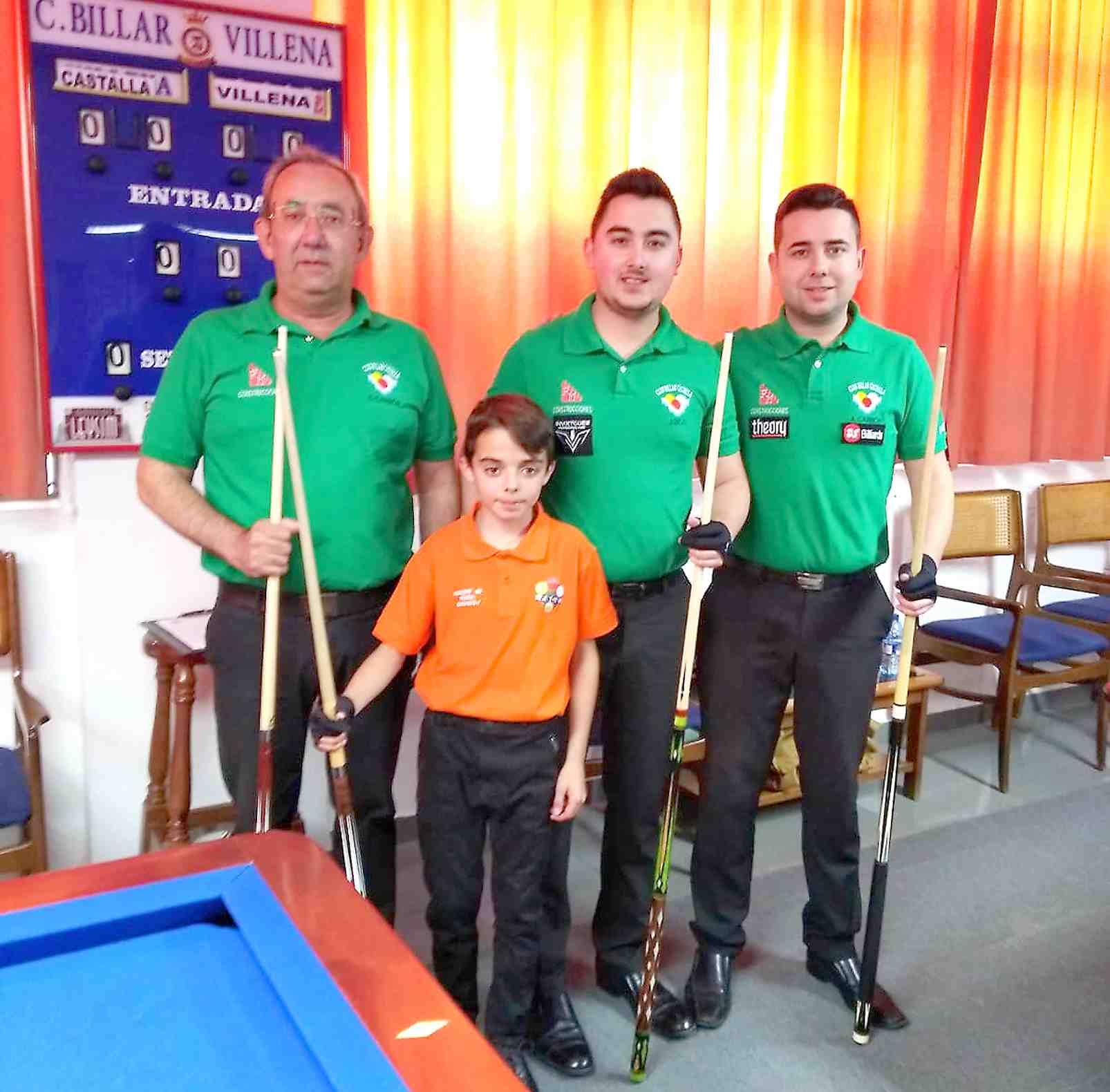 Toni García, de diez años de edad, nueva promesa del Club Billar Castalla