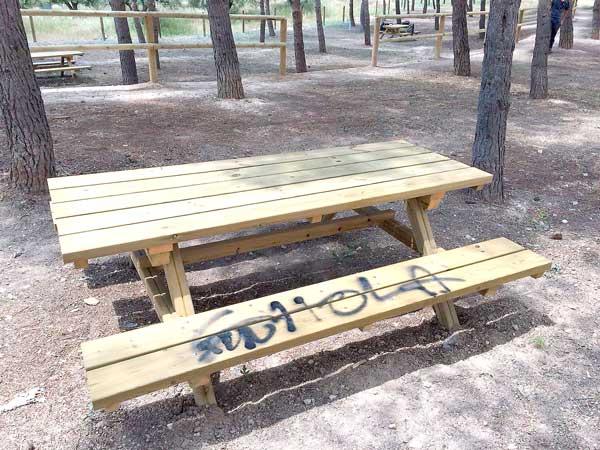 Actes vandàlics durant l'adequació de la zona verda al costat del Felicitat Bernabeu d'Ibi