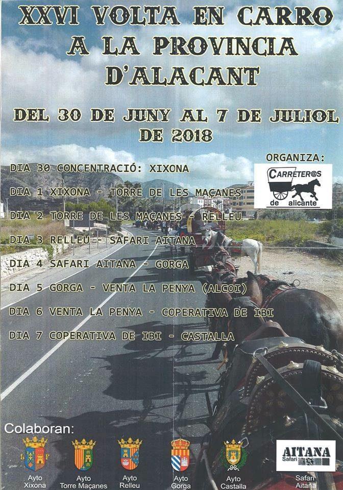 La Volta en Carro a la provincia pasa por Ibi y Castalla