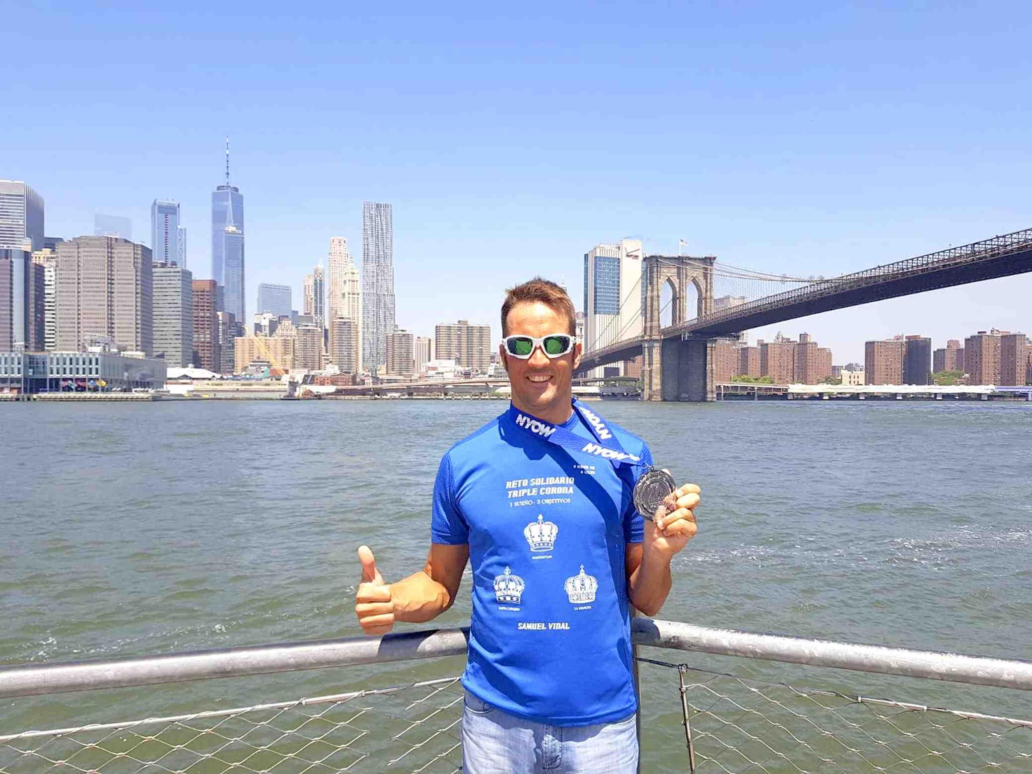 El ibense Samuel Vidal logra el cuarto puesto en la Vuelta a Nado a la isla de Manhattan