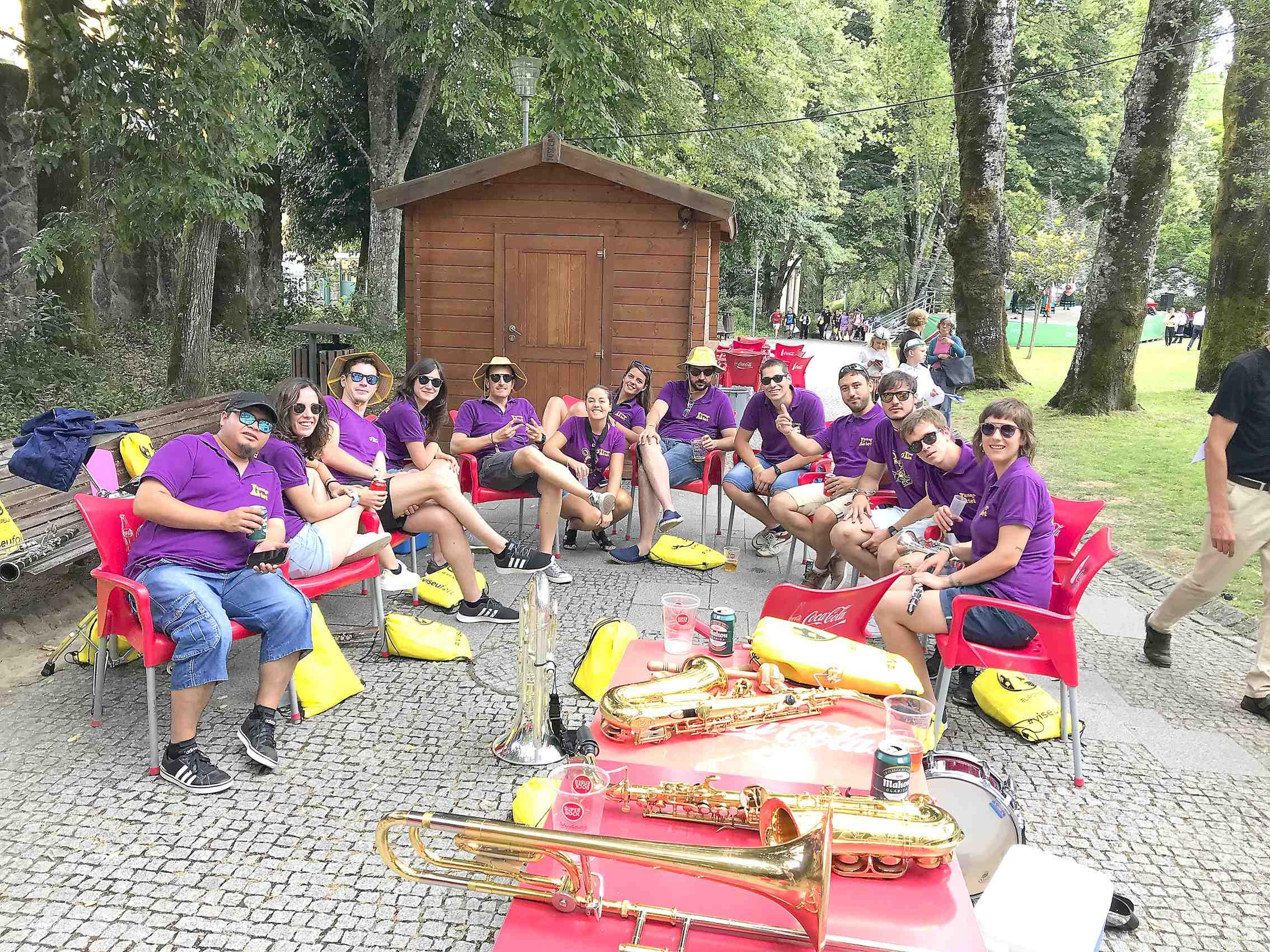 La Xaranga El Xatet participa en l'Europeade 2018 en la localitat portuguesa de Viseu