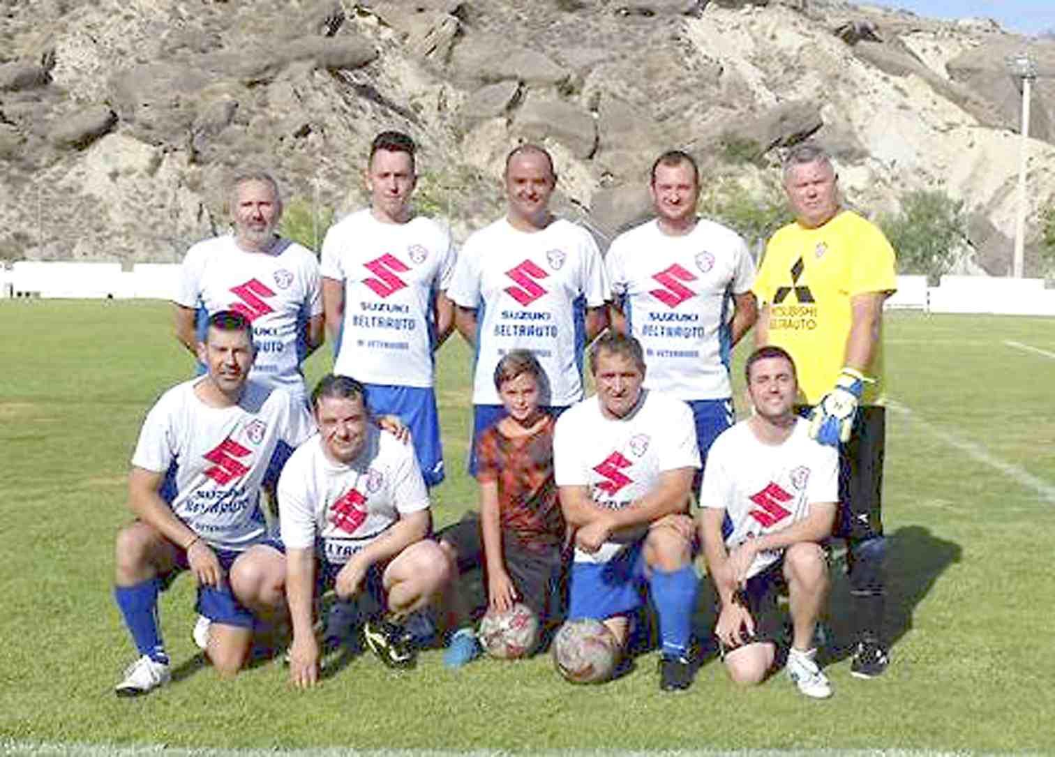 Los equipos de veteranos de Ibi, Partaloa, Olula del Río y Macael participan en el quinto Memorial de Fútbol 7 'Eugenio Reche Bernabé'