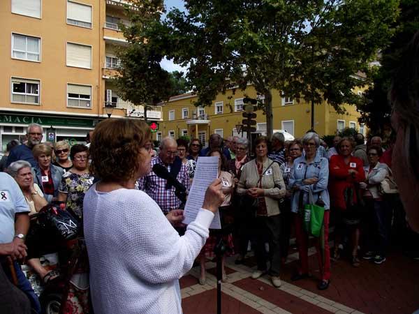 Unes 150 persones participen a Ibi en la concentració del Dia Mundial de les Persones Majors