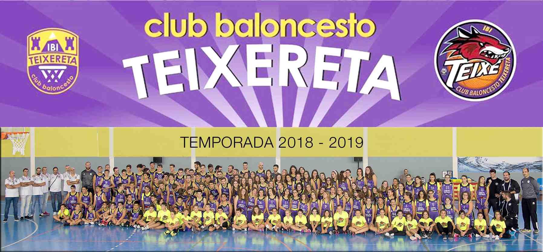 El Club Teixereta d'Ibi presenta a tots els seus equips per a la nova temporada (2018-2019)