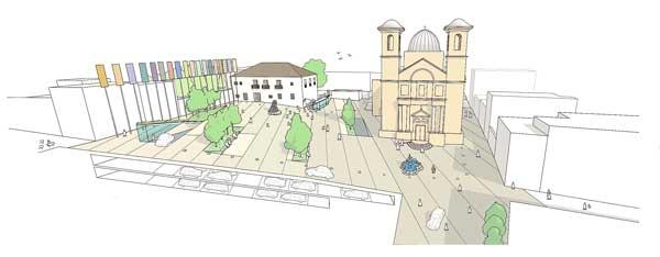 Projecte guanyador del concurs d'idees per remodelar la plaça de l'Església d'Ibi
