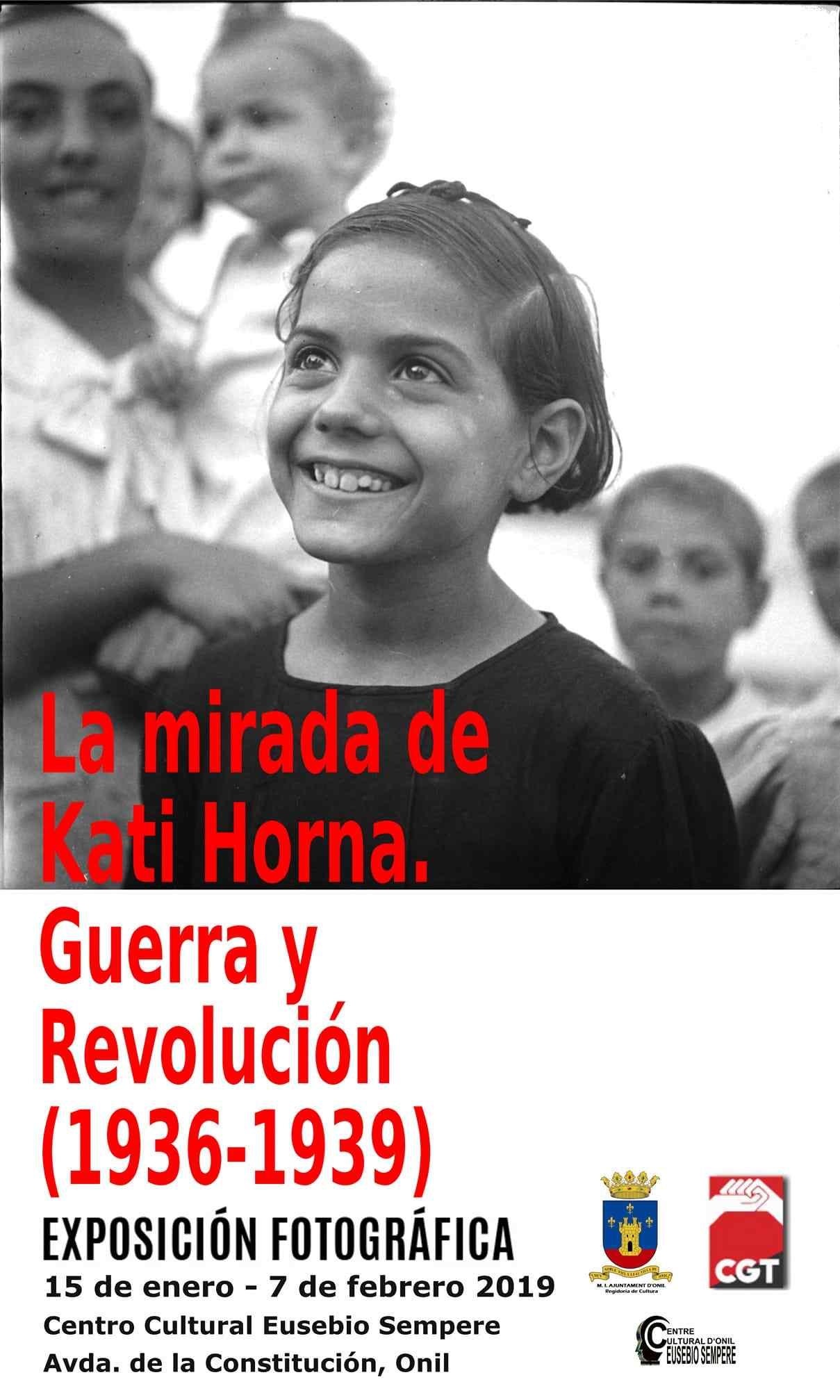 'La mirada de Kati Horna', exposició fotogràfica en Onil organitzada per la CGT