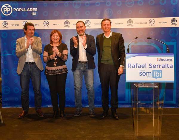 Rafael Serralta revalida la seua candidatura a l'alcaldia del PP d'Ibi