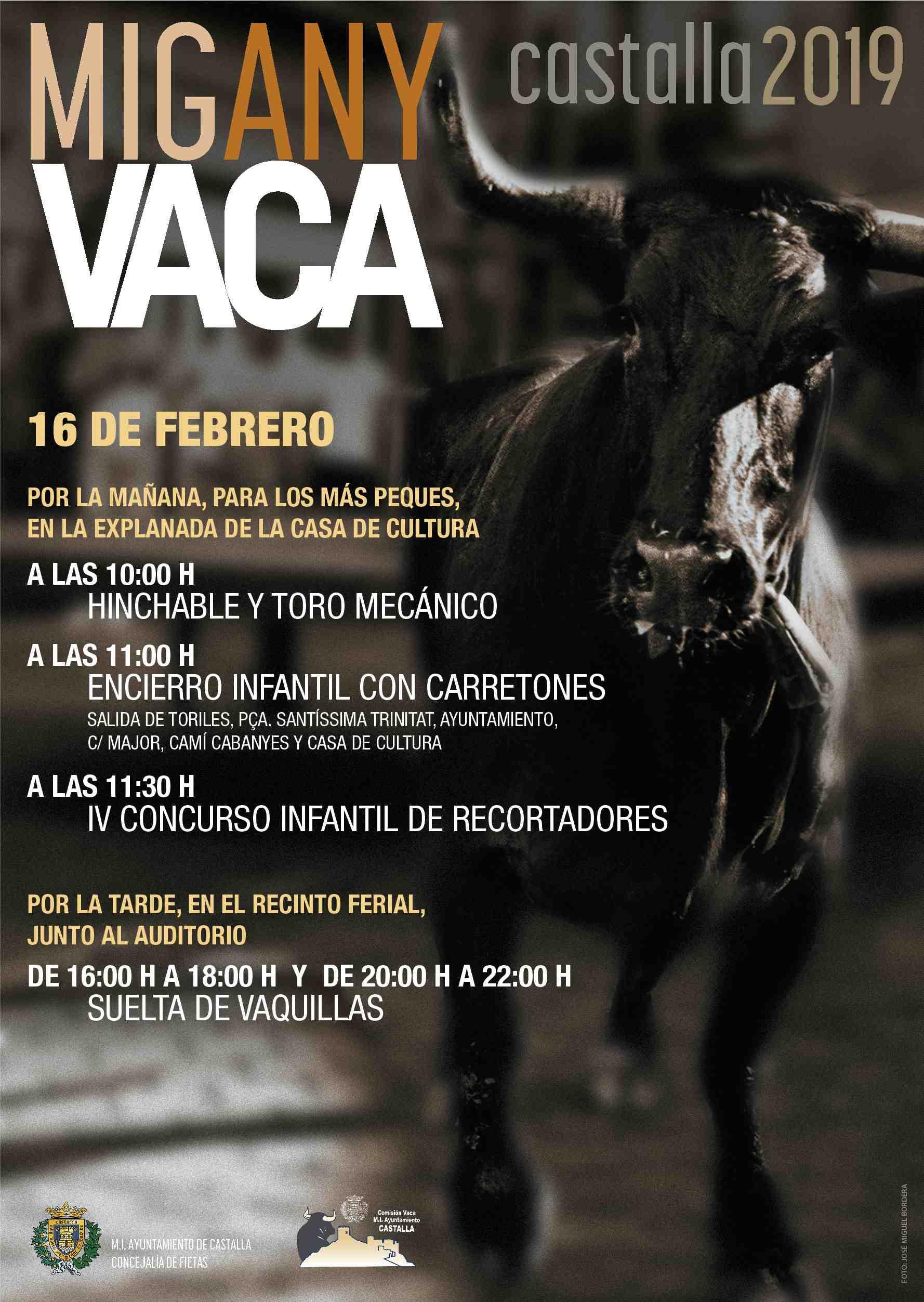 El dissabte 16 de febrer en Castalla, Mig Any de Vaca
