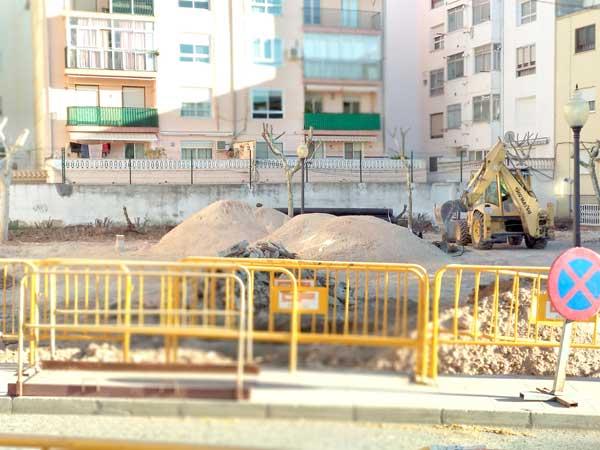 Obres de remodelació de la plaça de la Sarga d'Ibi