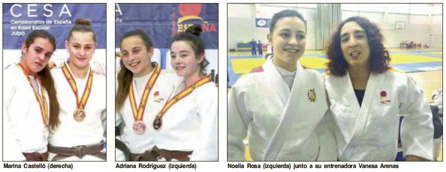 Marina Castelló i Adriana Rodríguez, or i bronze en el Campionat d'Espanya de Judo