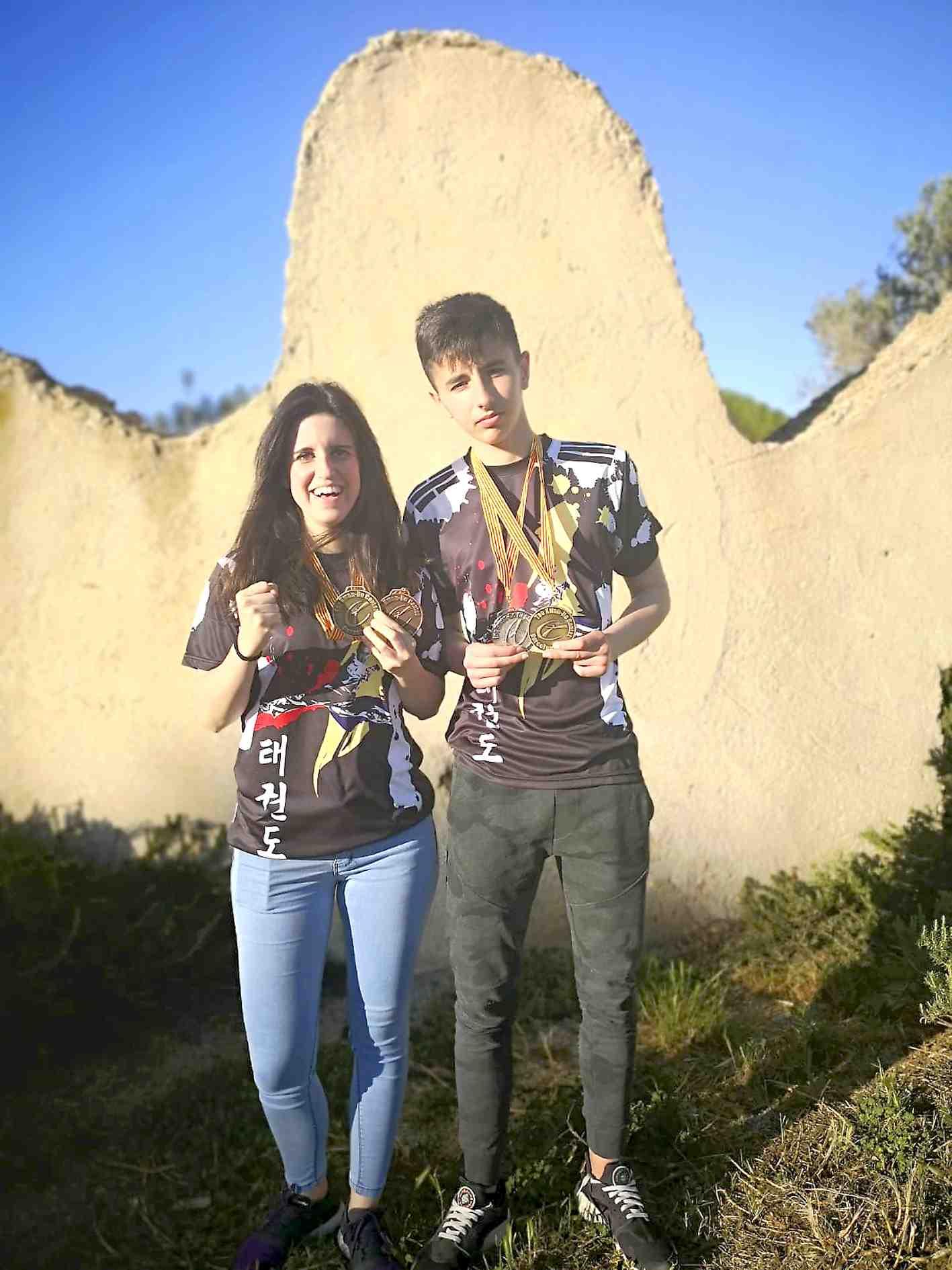 Los ibenses Óscar Rubio y Patricia Fernández ganan el Open Internacional de Cataluña de Taekwondo-ITF