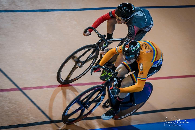 El ciclista ibense José Cerdá, subcampeón de España en Velocidad Olímpica