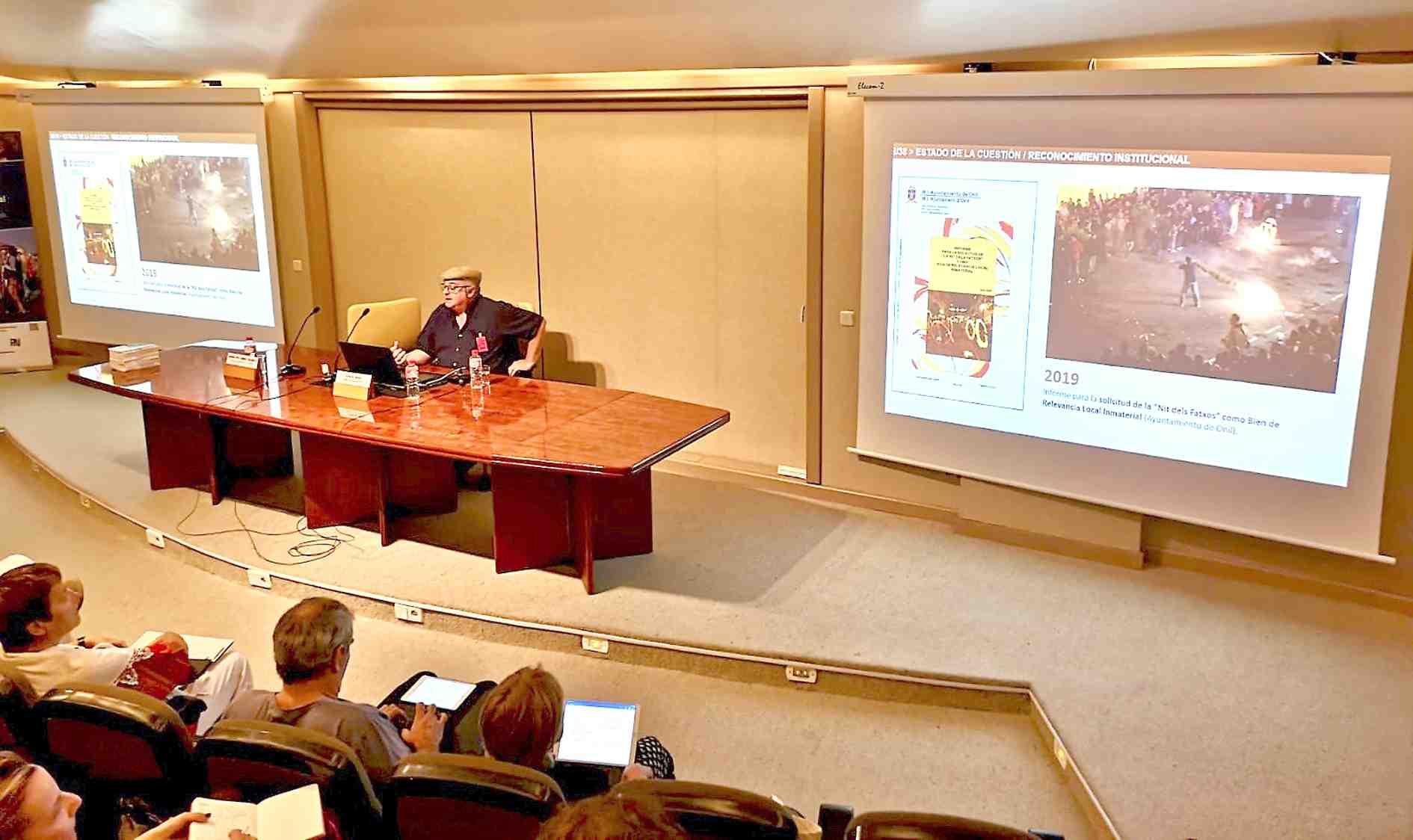 La Nit dels Fatxos d'Onil il.lustra un seminari sobre la salvaguarda del patrimoni immaterial d'Espanya