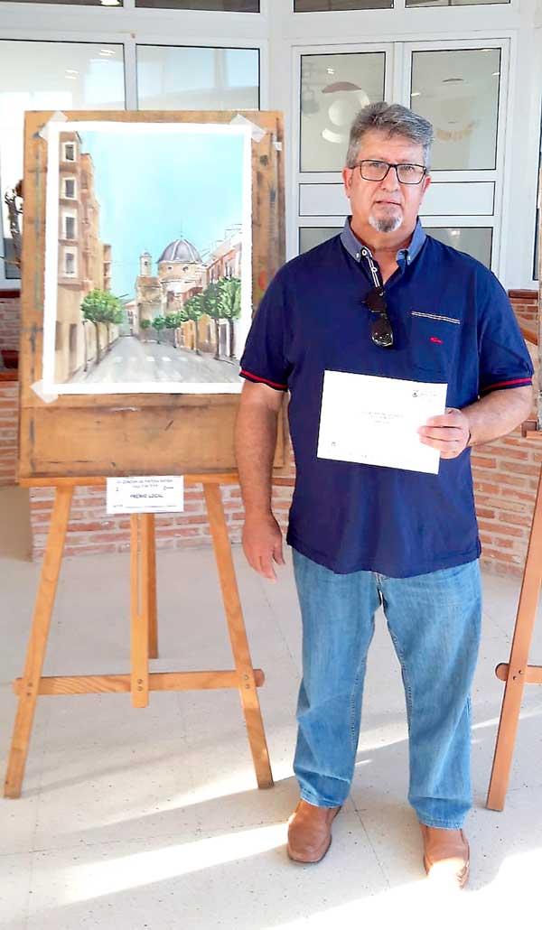 Ángel Gázquez gana el premio local del Concurso de Pintura Rápida de Ibi