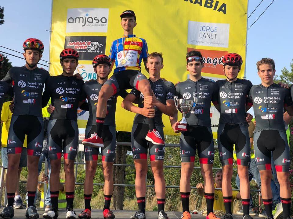 El ciclista ibense Mario Granero, campeón autonómico de ruta Júnior