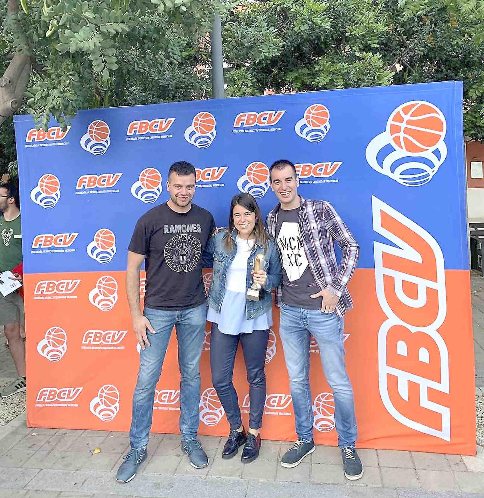 Andrea Martín, del Club de Baloncesto Castalla, premio a la mejor jugadora de la Comunidad Valenciana