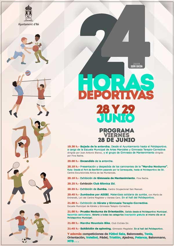 Ibi celebra hui i demà les XXXVII 24 Hores Esportives amb competicions en totes les disciplines