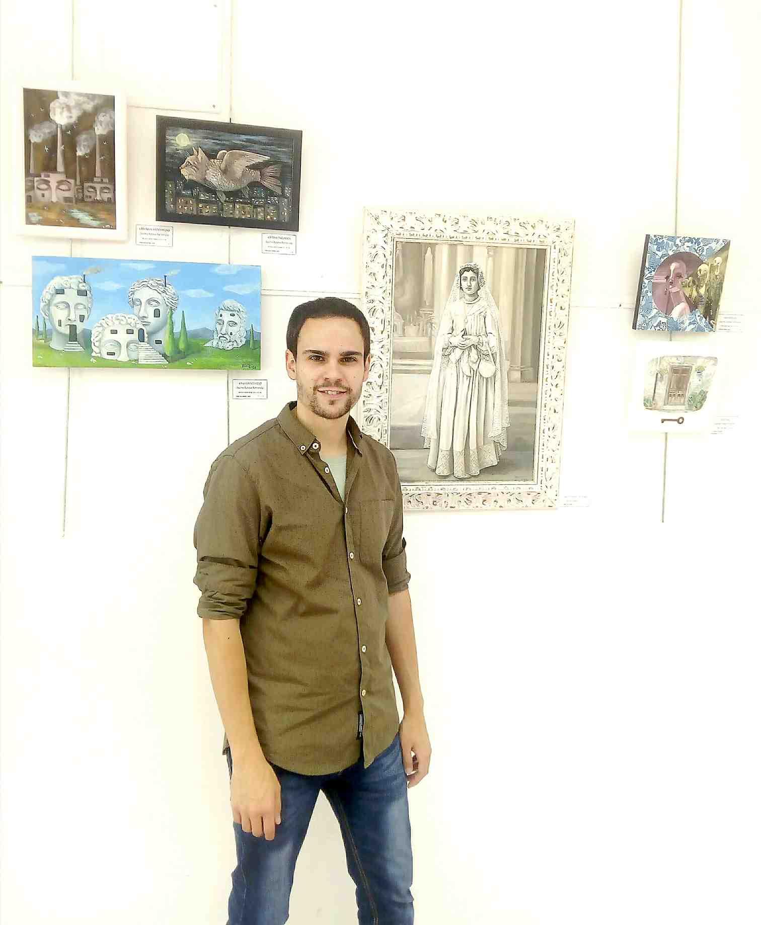 Exposició de treballs del taller d'art de Jaume Esteve en Castalla