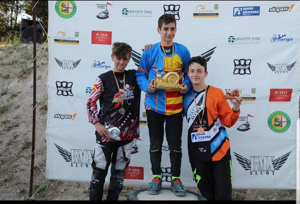 El joven ibense Alejandro Verdú se proclama subcampeón autonómico de BMX en la categoría 13-14 años